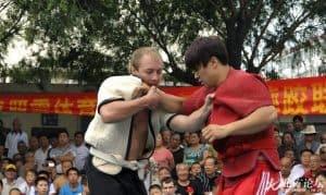 MMA Fighter Goncharov Practicing Shuai Jiao