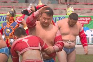 Mongolian Wrestling Sportsmanship