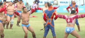Mongolian Wrestler Dance